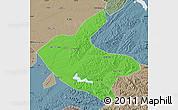 Political Map of Kaiyuan, semi-desaturated