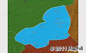 Political Map of Kangping, darken