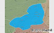 Political Map of Kangping, semi-desaturated