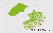 Physical 3D Map of Liaoyang, cropped outside