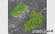 Satellite Map of Liaoyang, desaturated
