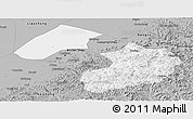 Gray Panoramic Map of Liaoyang