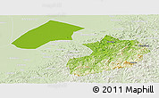 Physical Panoramic Map of Liaoyang, lighten