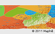 Physical Panoramic Map of Liaoyang, political outside