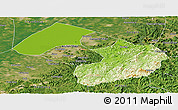 Physical Panoramic Map of Liaoyang, satellite outside