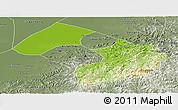 Physical Panoramic Map of Liaoyang, semi-desaturated