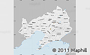 Gray Map of Liaoning, single color outside