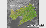 Satellite Map of Liaoning, desaturated