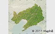Satellite Map of Liaoning, lighten