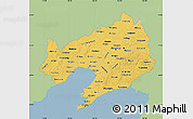 Savanna Style Map of Liaoning, single color outside