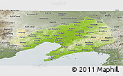 Physical Panoramic Map of Liaoning, semi-desaturated