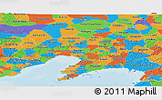 Political Panoramic Map of Liaoning