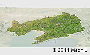 Satellite Panoramic Map of Liaoning, lighten