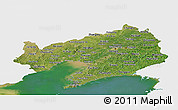 Satellite Panoramic Map of Liaoning, single color outside