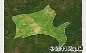 Satellite Map of Panshan, darken