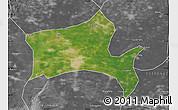 Satellite Map of Panshan, desaturated