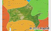 Satellite Map of Panshan, political outside