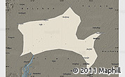Shaded Relief Map of Panshan, darken