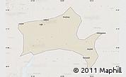 Shaded Relief Map of Panshan, lighten