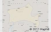 Shaded Relief Map of Panshan, semi-desaturated