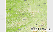 Physical Map of Qingyuan
