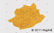 Political Map of Qingyuan, cropped outside