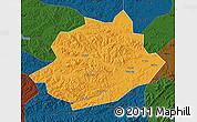 Political Map of Qingyuan, darken