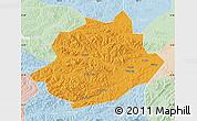 Political Map of Qingyuan, lighten