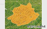 Political Map of Qingyuan, satellite outside