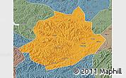 Political Map of Qingyuan, semi-desaturated
