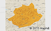 Political Map of Qingyuan, shaded relief outside