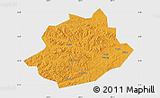 Political Map of Qingyuan, single color outside
