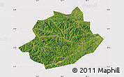 Satellite Map of Qingyuan, cropped outside