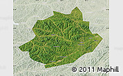 Satellite Map of Qingyuan, lighten