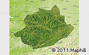 Satellite Map of Qingyuan, physical outside