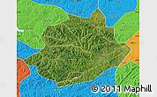 Satellite Map of Qingyuan, political outside