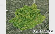 Satellite Map of Qingyuan, semi-desaturated