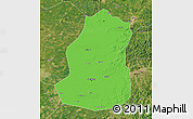 Political Map of Shenyang Shiqu, satellite outside