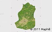 Satellite Map of Shenyang Shiqu, cropped outside