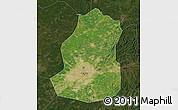 Satellite Map of Shenyang Shiqu, darken