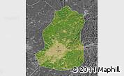 Satellite Map of Shenyang Shiqu, desaturated