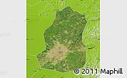 Satellite Map of Shenyang Shiqu, physical outside