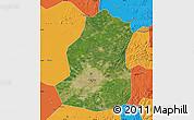 Satellite Map of Shenyang Shiqu, political outside