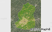 Satellite Map of Shenyang Shiqu, semi-desaturated