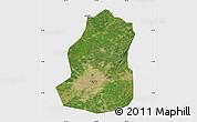Satellite Map of Shenyang Shiqu, single color outside