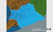 Political Map of Suizhong, darken
