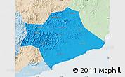 Political Map of Suizhong, lighten
