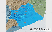 Political Map of Suizhong, semi-desaturated