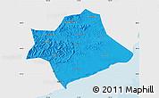 Political Map of Suizhong, single color outside