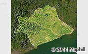 Satellite Map of Suizhong, darken